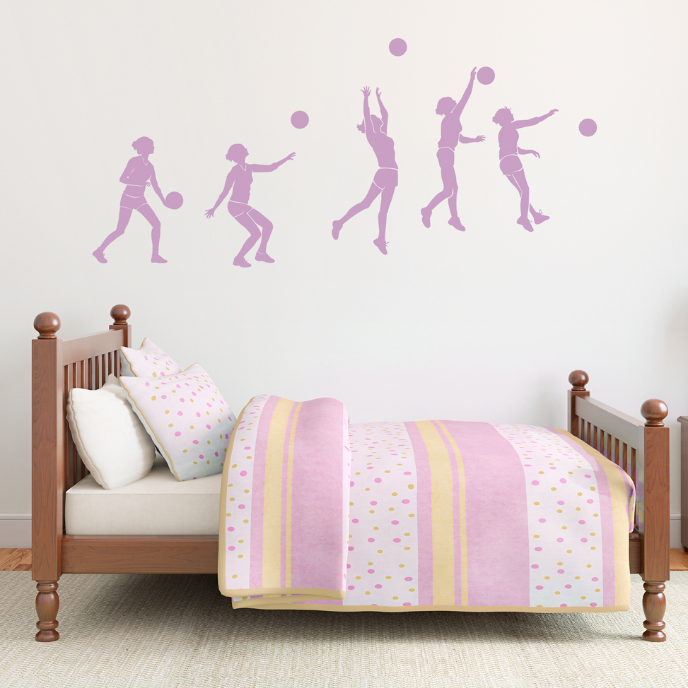 Volleyball Sequence Wall Decal - Vinyl volleyball wall decals