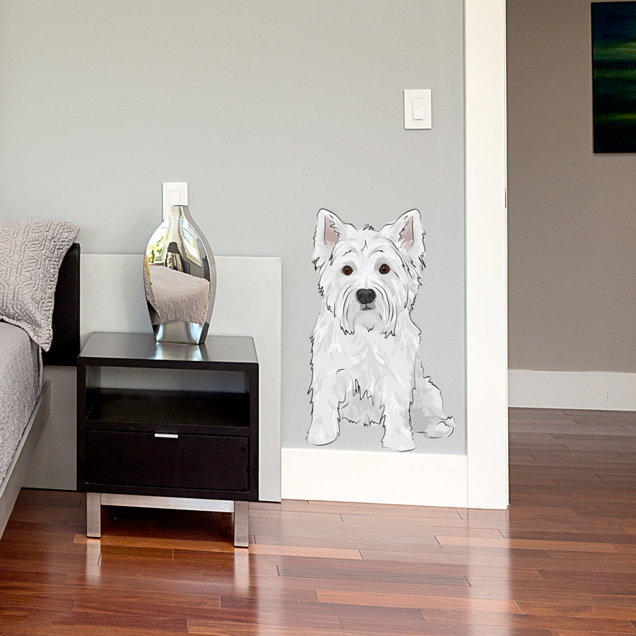 Westie printed wall decal amipublicfo Image collections