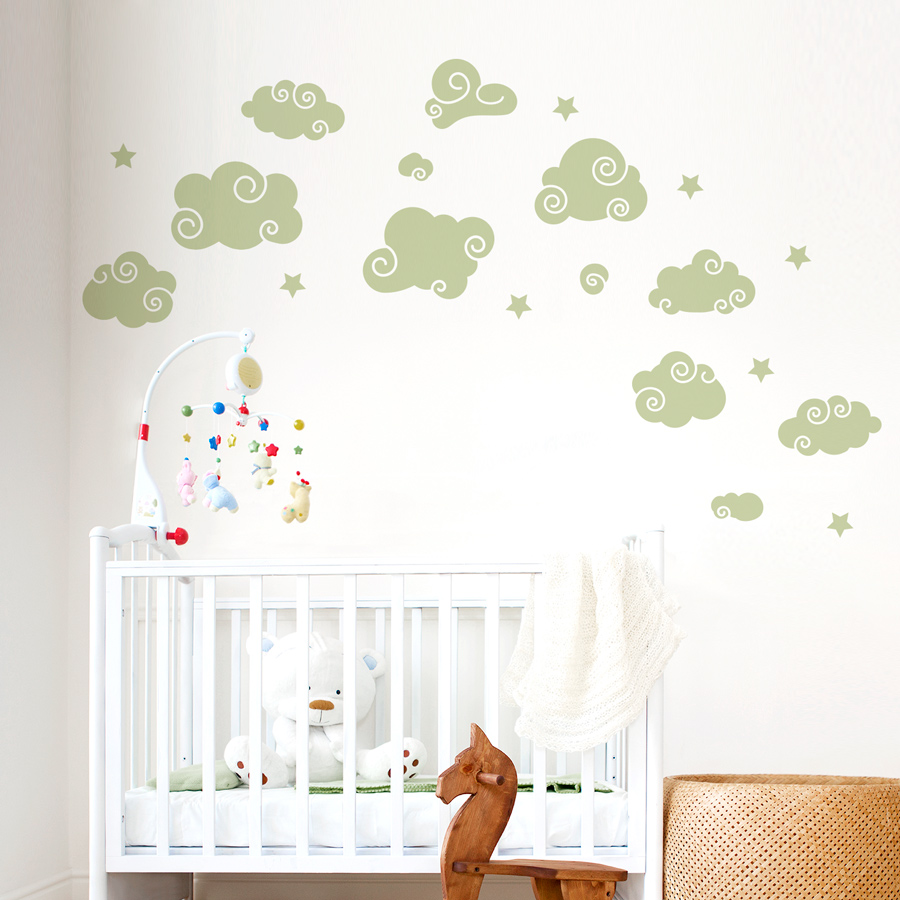 Whimsical Clouds Wall Decal