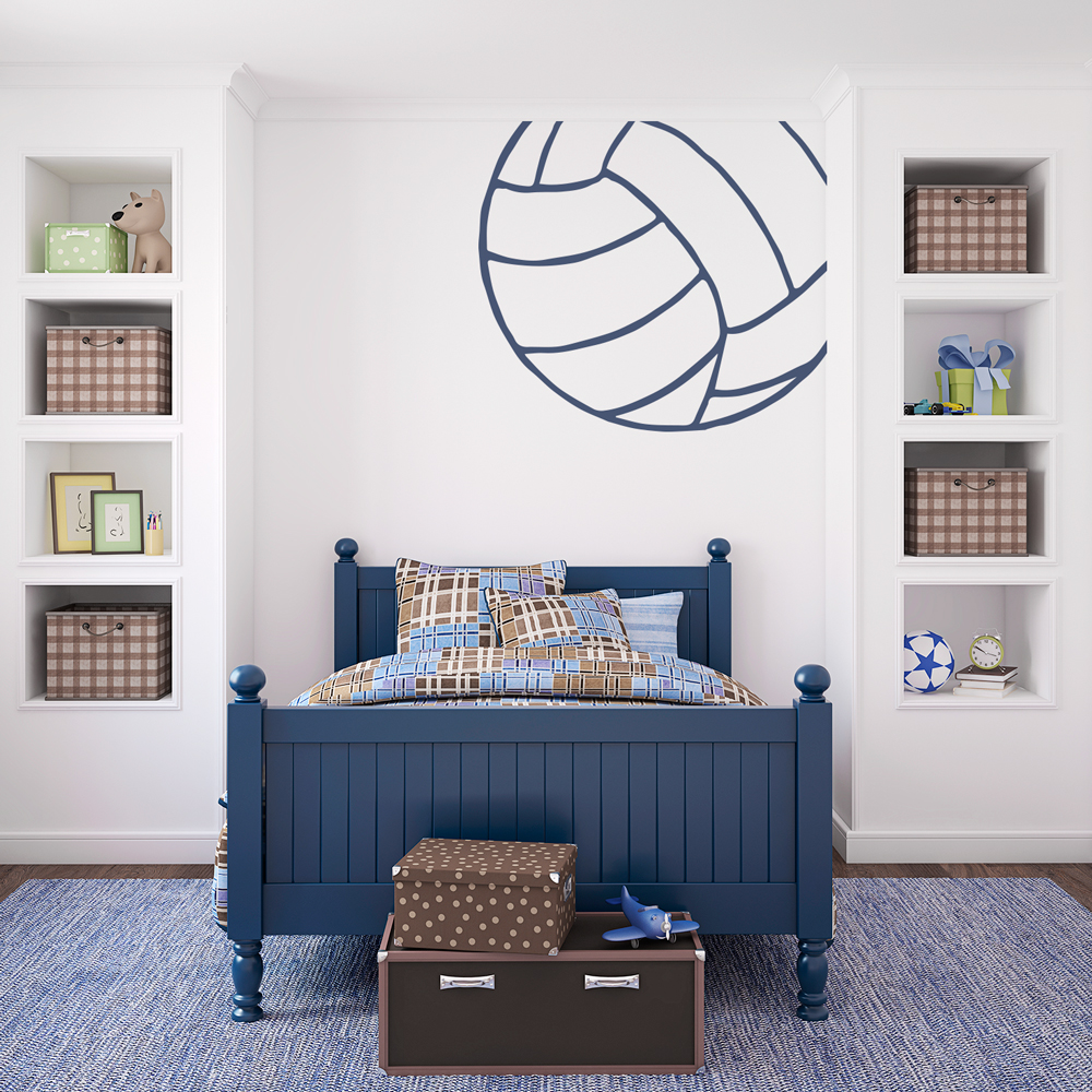 Corner Volleyball Wall Decal - Vinyl volleyball wall decals