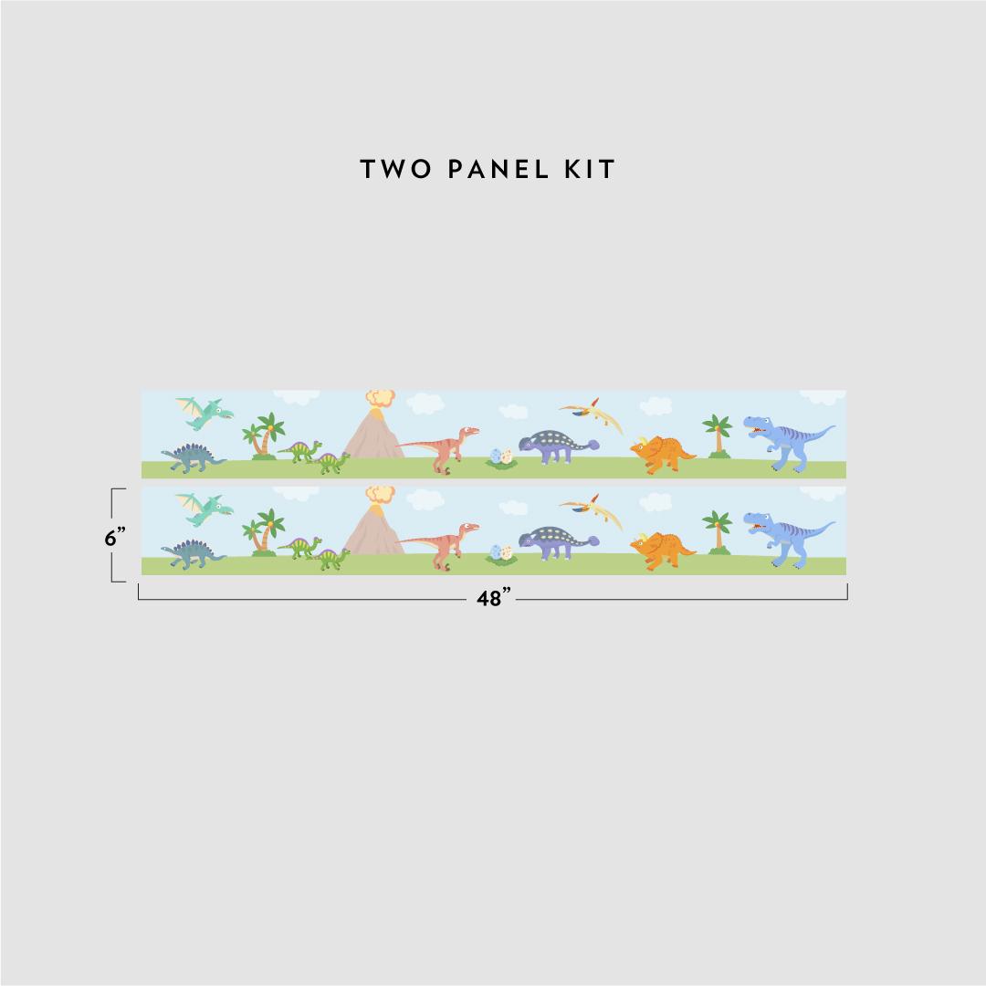 Dino removable border for Temporary wallpaper border