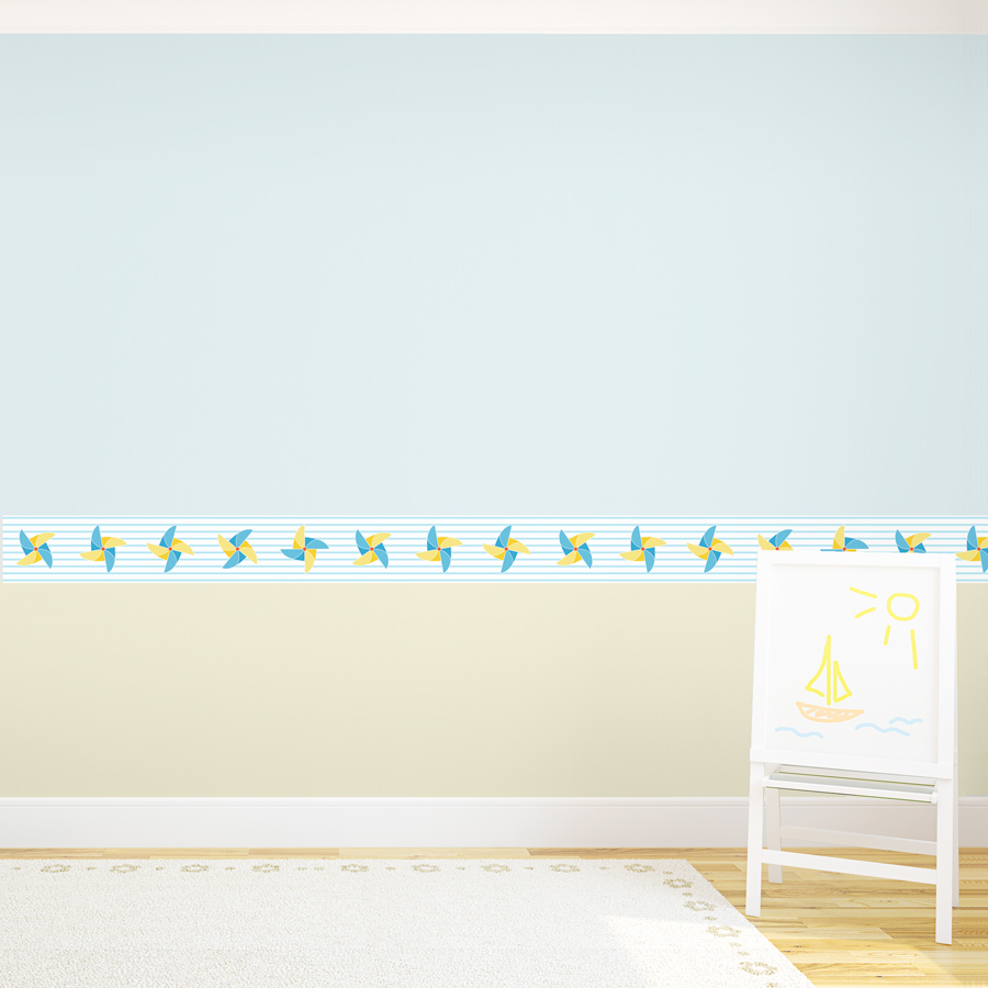 Pinwheel removable border for Temporary wallpaper border