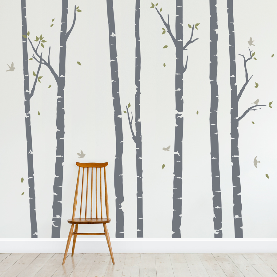 Birch Trees Forest Wall Decal ...