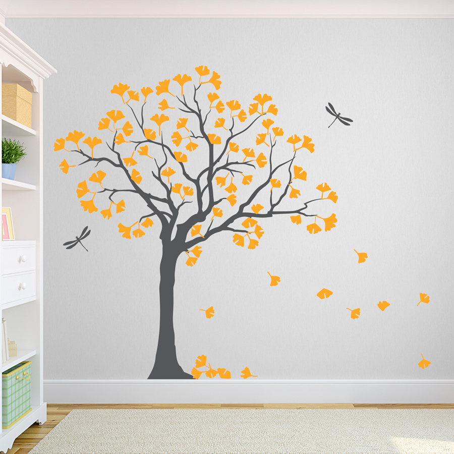 Design Tree Wall Decals ginkgo tree wall decal