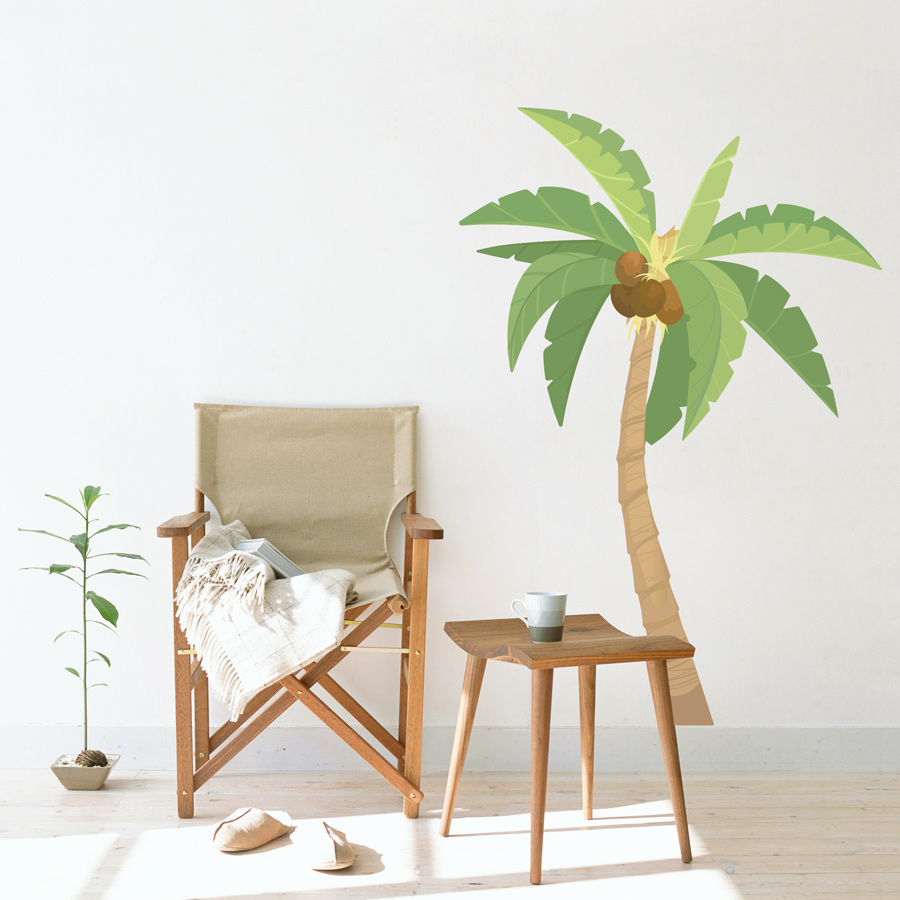 Palm Tree Printed Wall Decal Design Inspirations