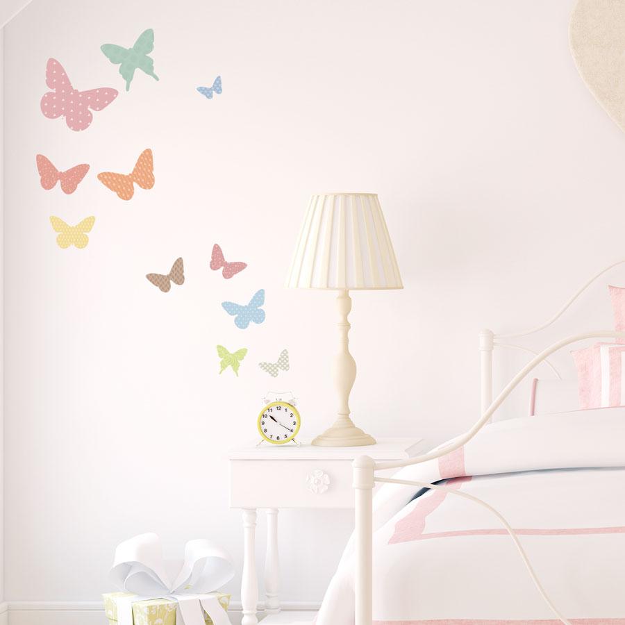 Pattern Butterflies Printed Wall Decal - Wall decals butterflies