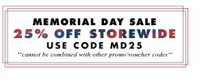 25% off - Wallums Memorial Day Sale