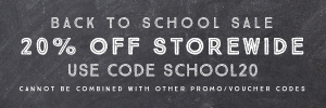 20% off - Wallums Back to School Sale