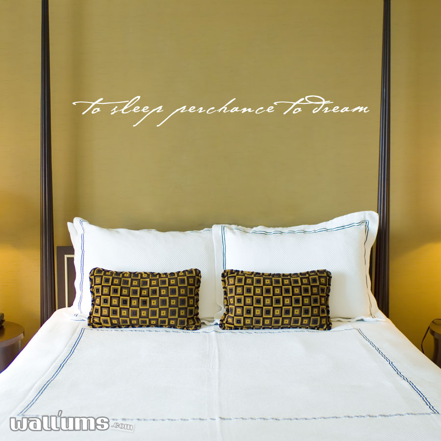 To Sleep Perchance To Dream Wall Decals