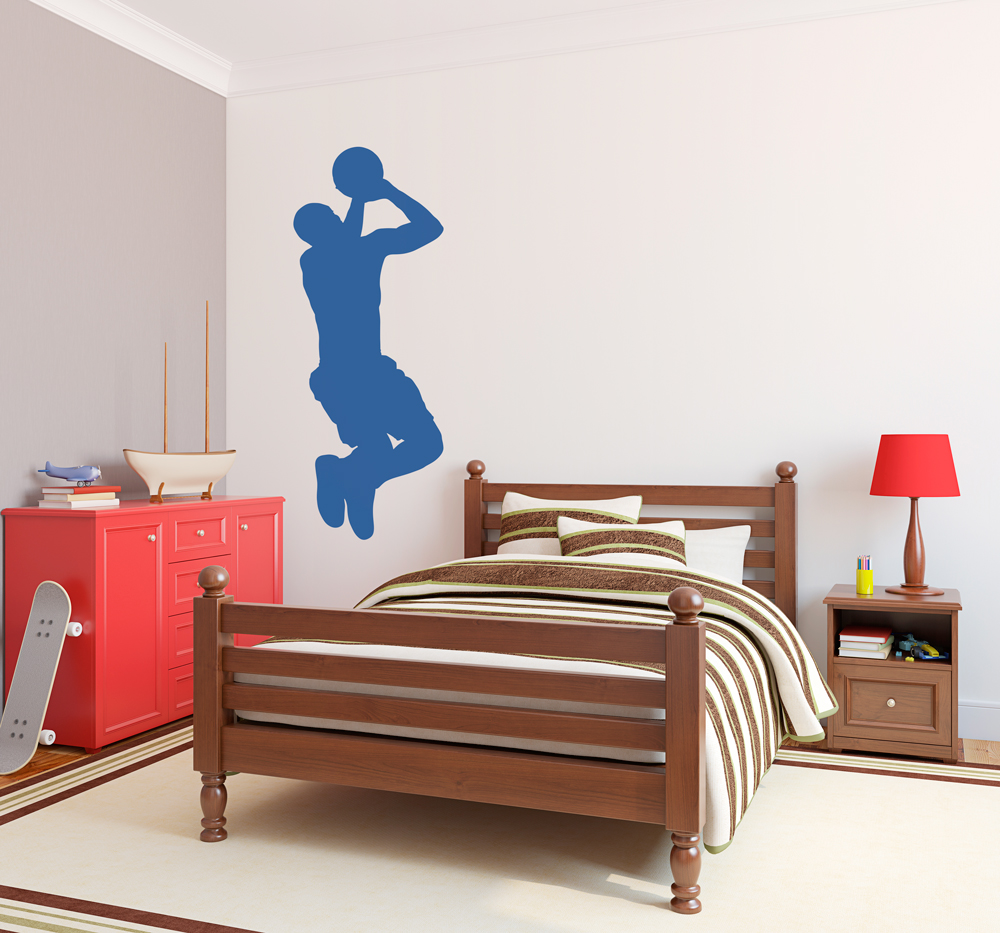 Basketball Silhouette Wall Decal | Basketball Player Wall Decal