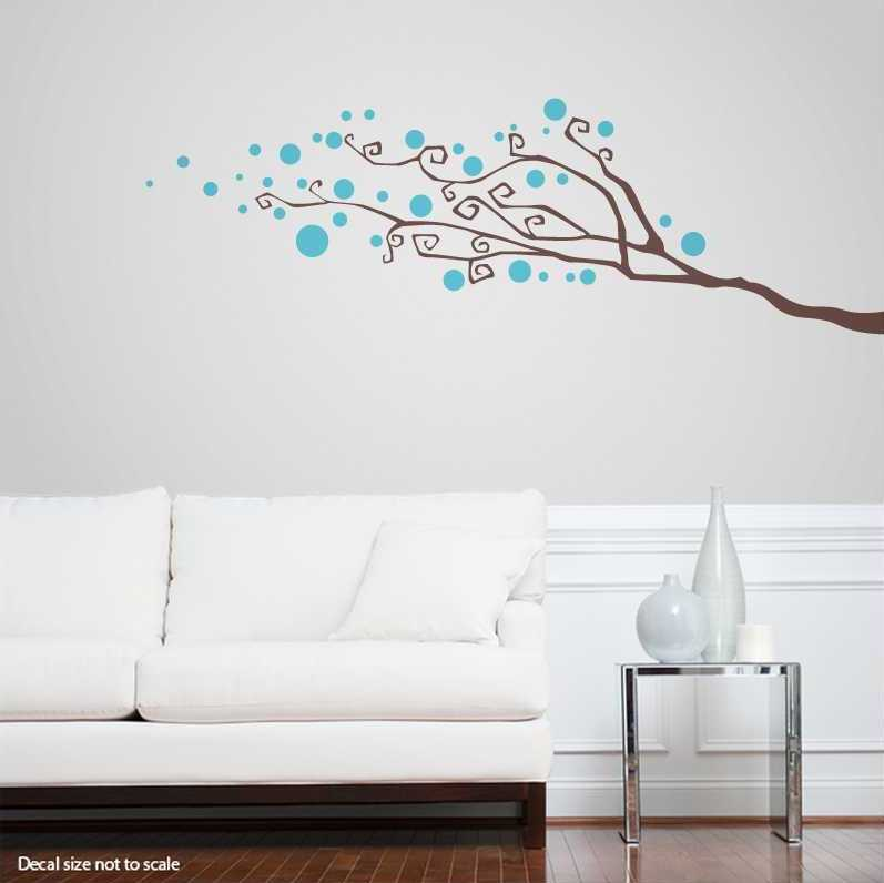 Lovely Wall Stickers Tree Branches Part - 10: Dotty Tree Branch Wall Decal | Abstract Wall Decal