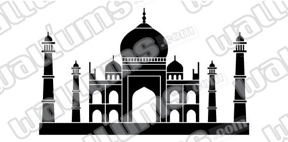 Taj Mahal wall decal Taj Mahal Wall Art Decal  sc 1 st  Wallums & Taj Mahal Wall Art Decal Sticker
