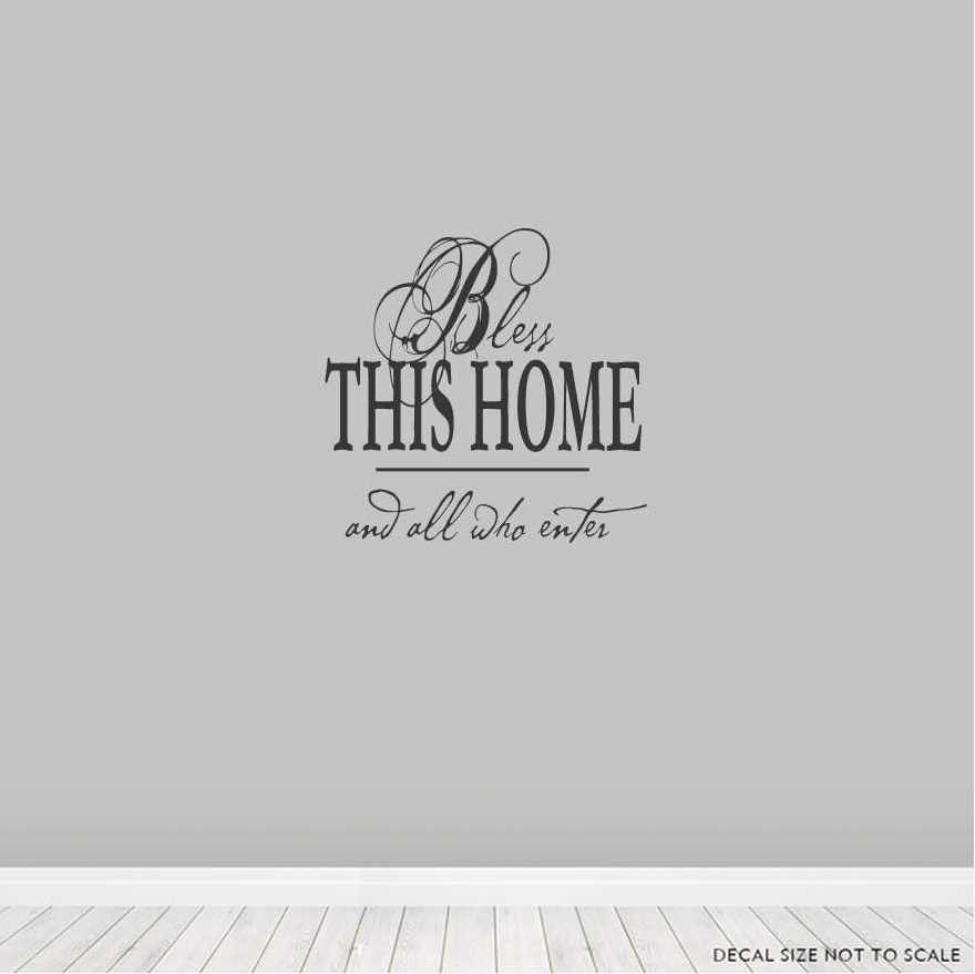 Bless_This_Home_And_All_Who_Enter_Wall_Art_Decals.jpg  sc 1 st  Wallums & Bless This Home And All Who Enter Wall Art Decals