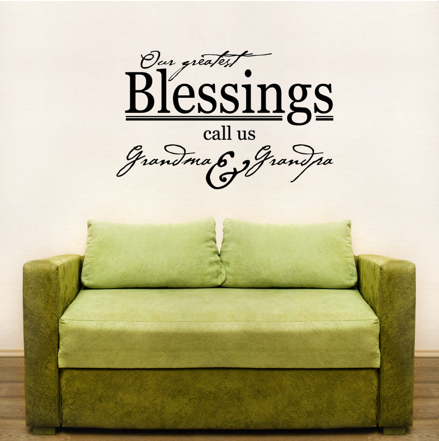 Our Greatest Blessings Call Us Grandma & Grandpa Wall Art Decals