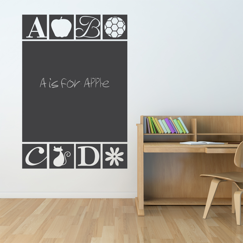 Abc Chalkboard Wall Decal Abc Wall Sticker Wallums