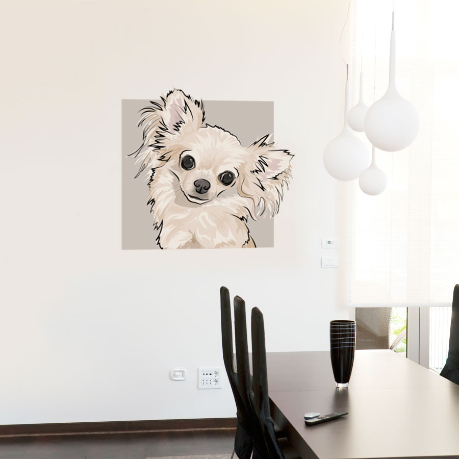 High Quality Chihuahua Dog Wall Decal