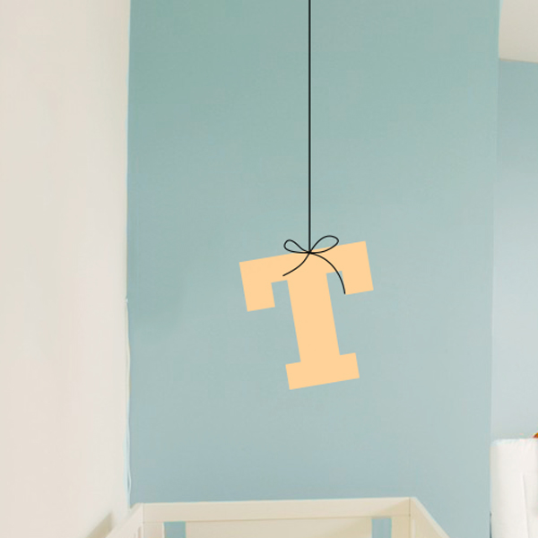 Hanging Letter Monogram Wall Decal