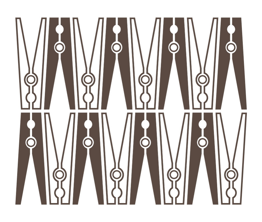 Clothespin Swirls Wall Decal Item Trading Phrases