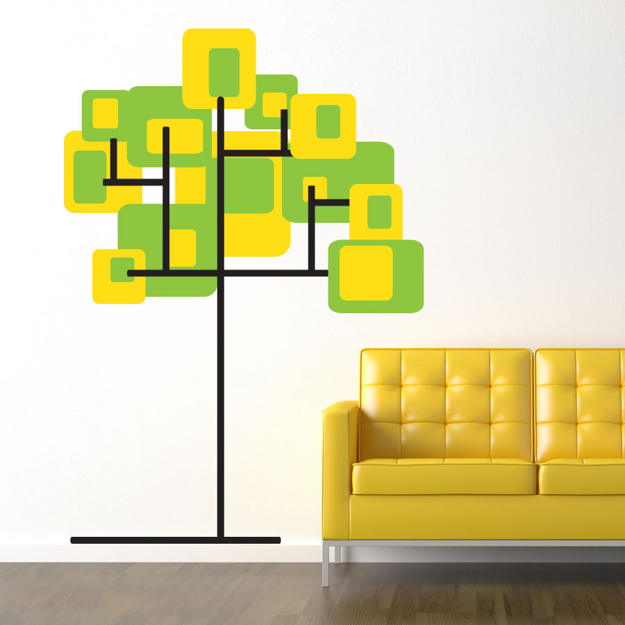 Create Your Own Abstract Tree Wall Decal