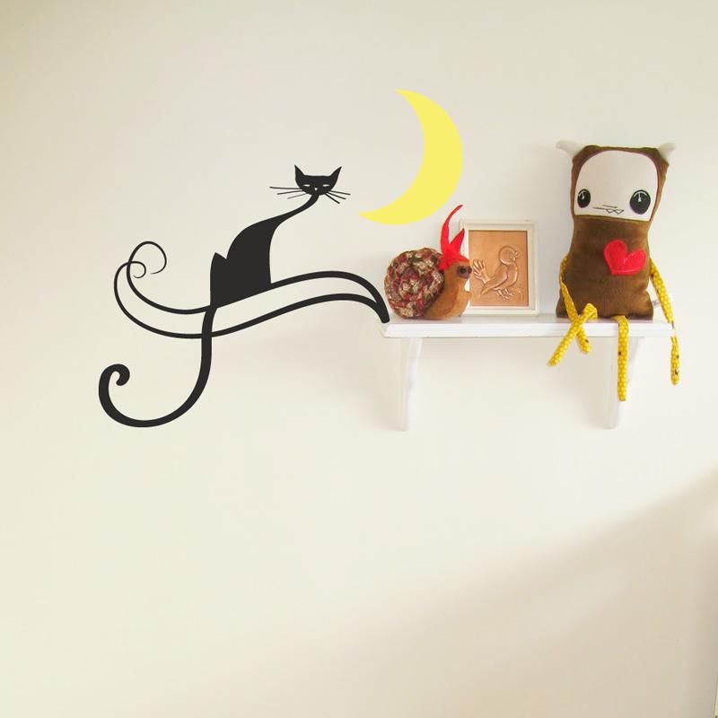 Midnight Cat Wall Art Decal