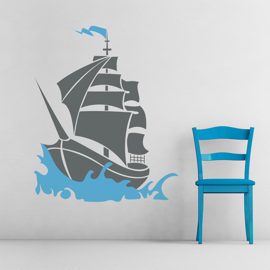 Exceptional Pirate Ship Wall Decal | Pirate Ship Wall Sticker | Wallums