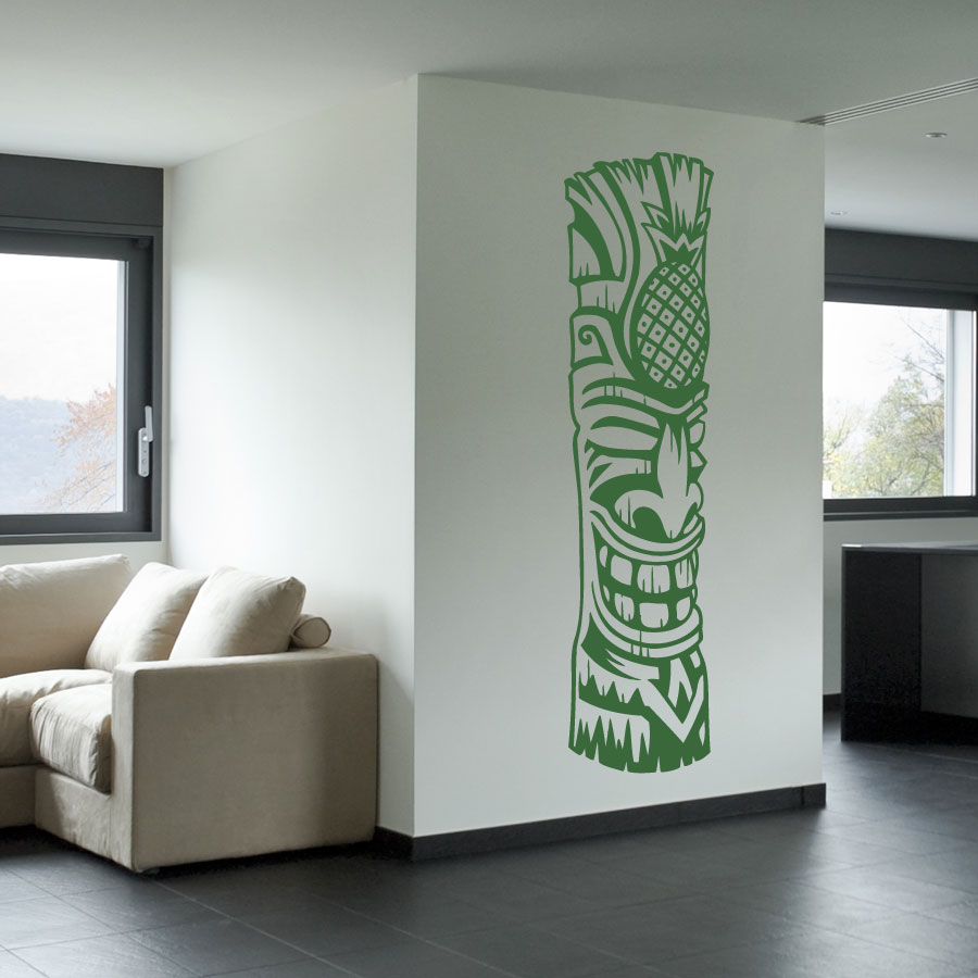 Tiki Totem 4 Vinyl Wall Decal Sticker