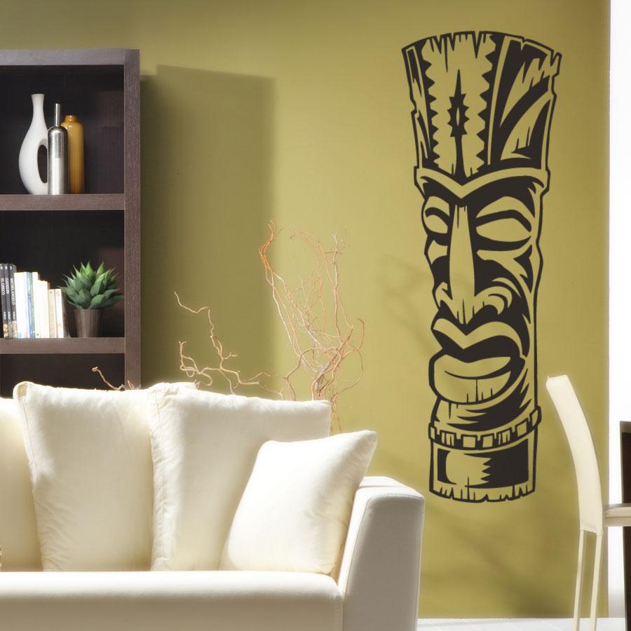 Tiki Totem 3 Vinyl Wall Decal Sticker