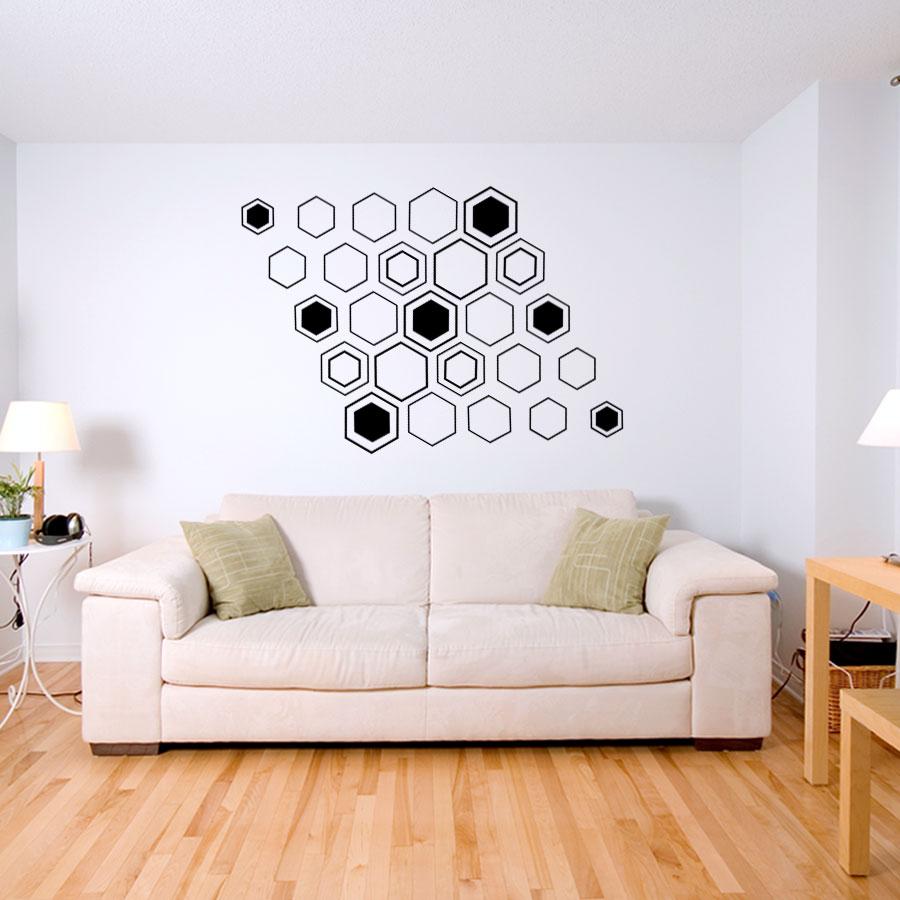 Geometric Hex Wall Decal Sticker