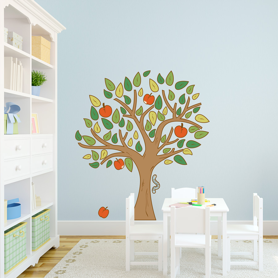 Amazing Apple Tree Printed Wall Decal