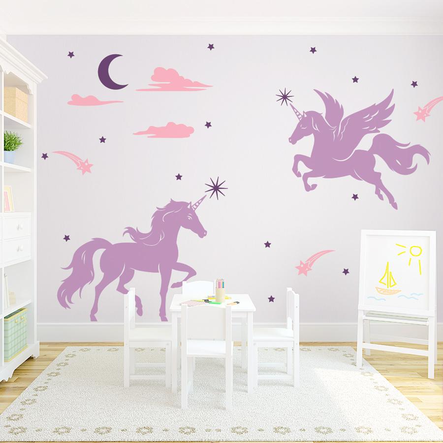 Amazing Magical Unicorns Wall Decal