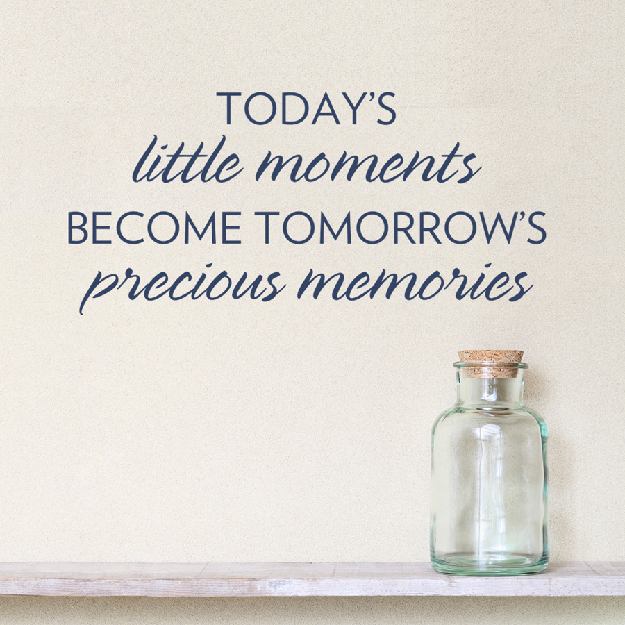 Today's Little Moments Wall Quote Decal