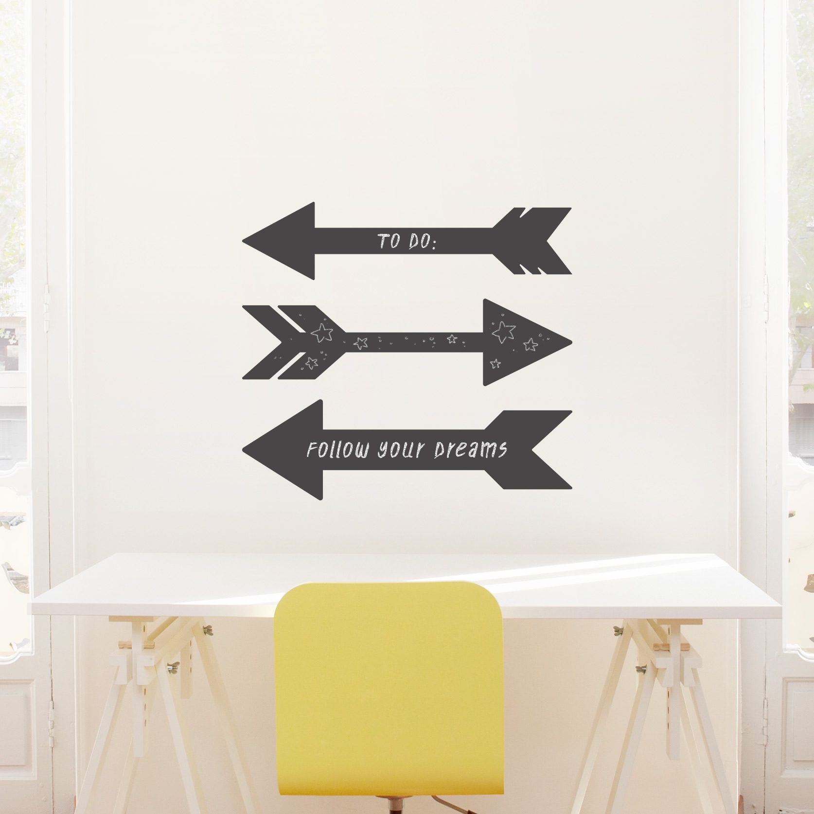 Skinny Arrow Chalkboard Wall Decal
