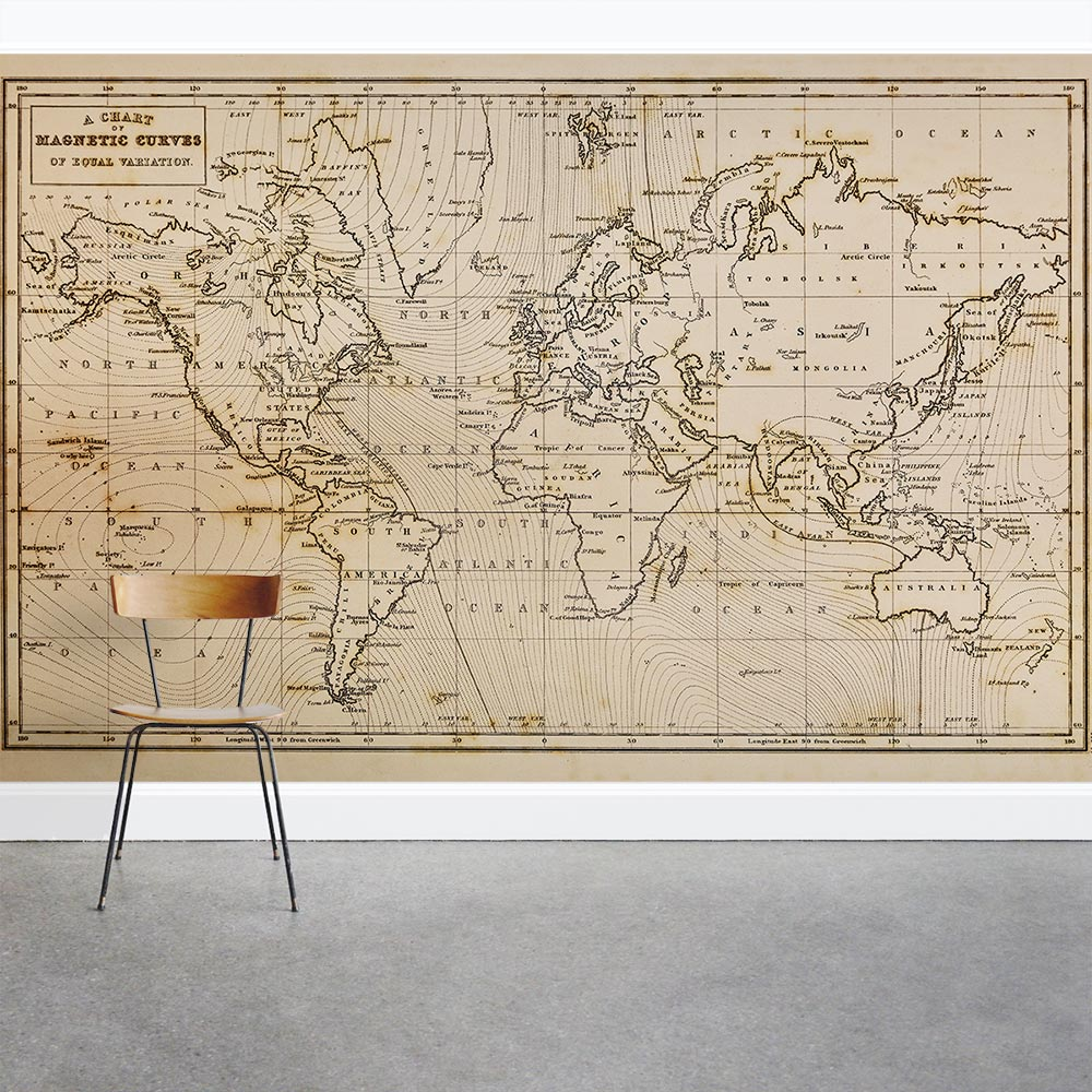 Old World Map Mural.Old World Map Wall Mural