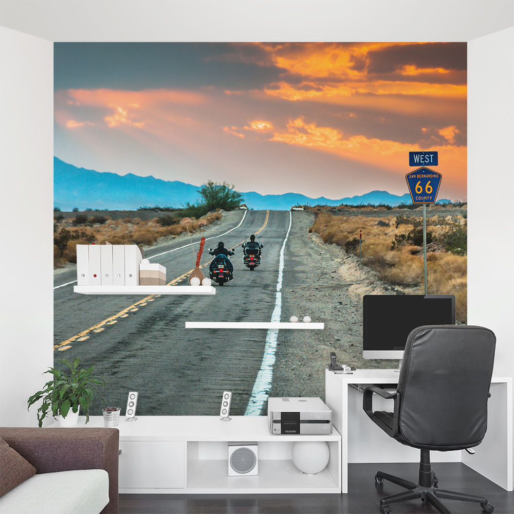 Route 66 Riders Wall Mural