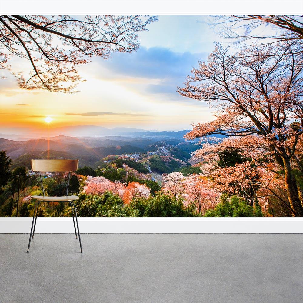 Sunrise On Mount Yoshino Wall Mural