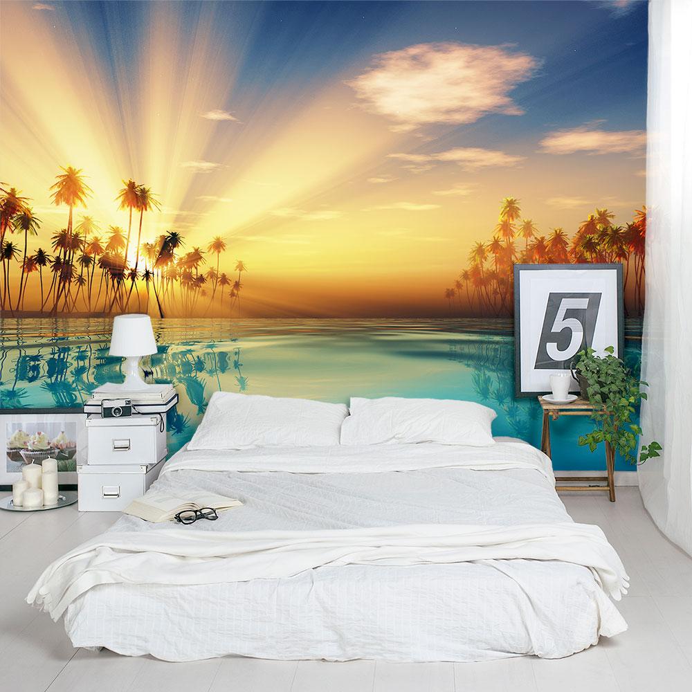 Tropical Sun Rays Wall Mural