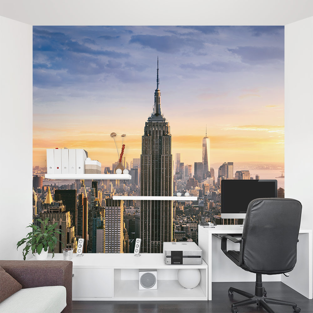 New York Skyline Wall Decal Nyc Wall Mural Wallums