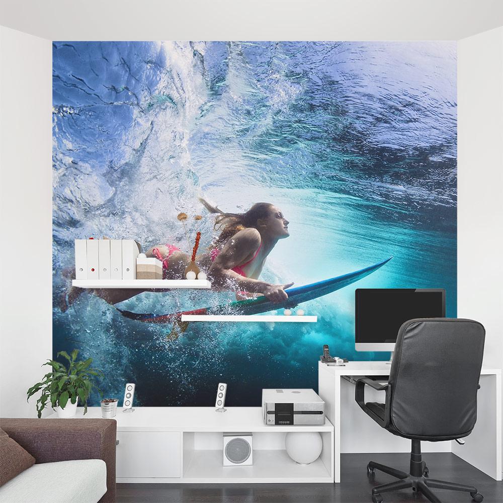 Underwater Surfer Wall Mural