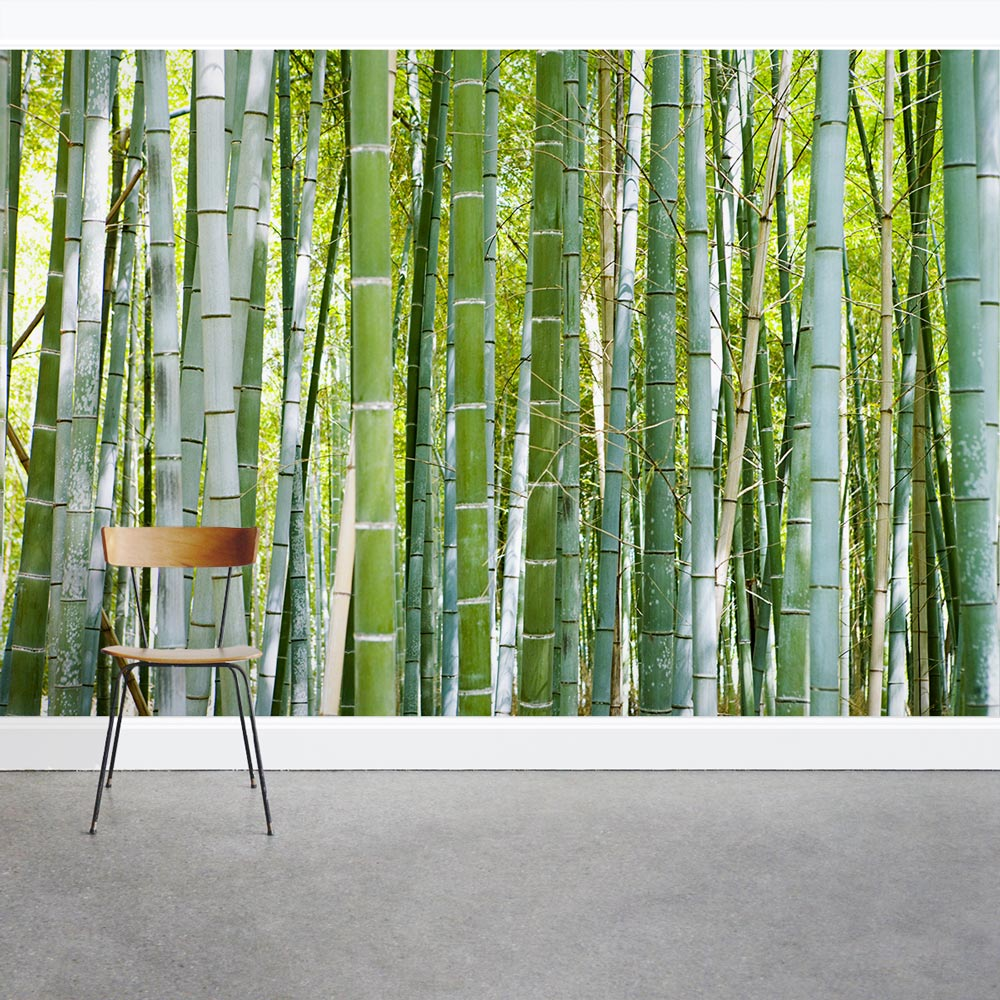 Thick Bamboo Forest Wall Mural