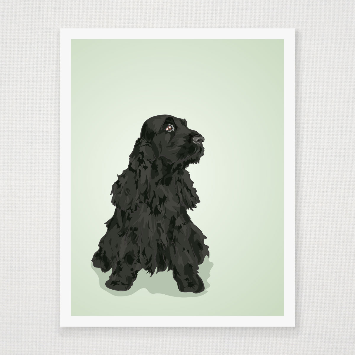 Bella The English Cocker Spaniel Art Print