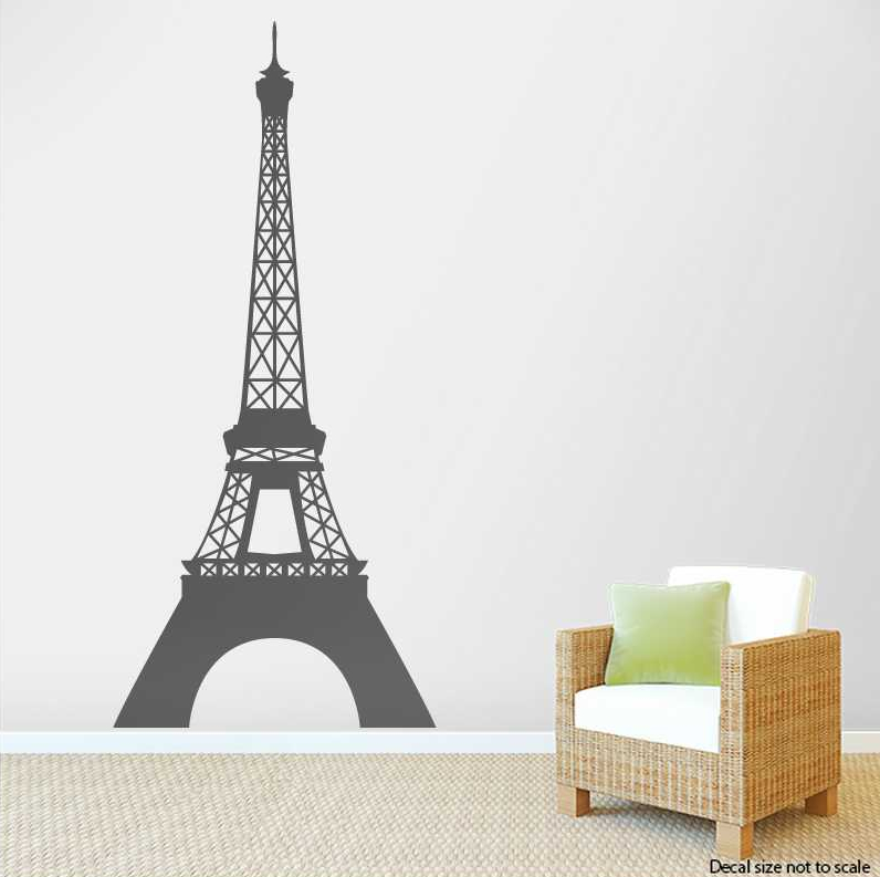 Eiffel Tower Wall Decal | Eiffel Tower Wall Sticker | Wallums