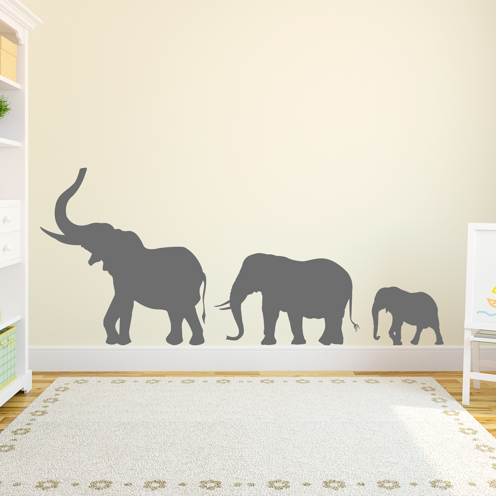 Marching Elephant Wall Decal | Elephant Wall Stickers