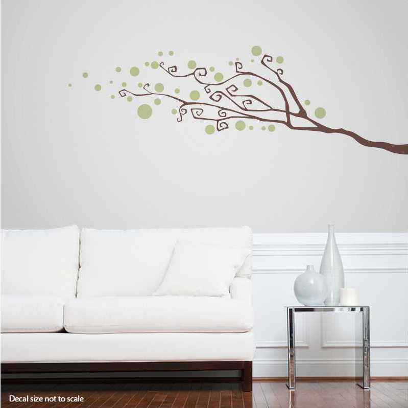 stunning Wall Stickers Tree Branch Part - 12: Dotty Tree Branch Wall Decal | Abstract Wall Decal