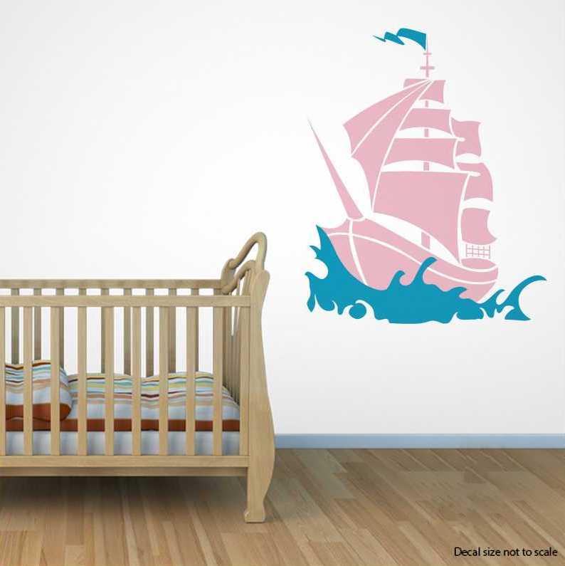 Pirate Ship Wall Decal | Pirate Ship Wall Sticker | Wallums