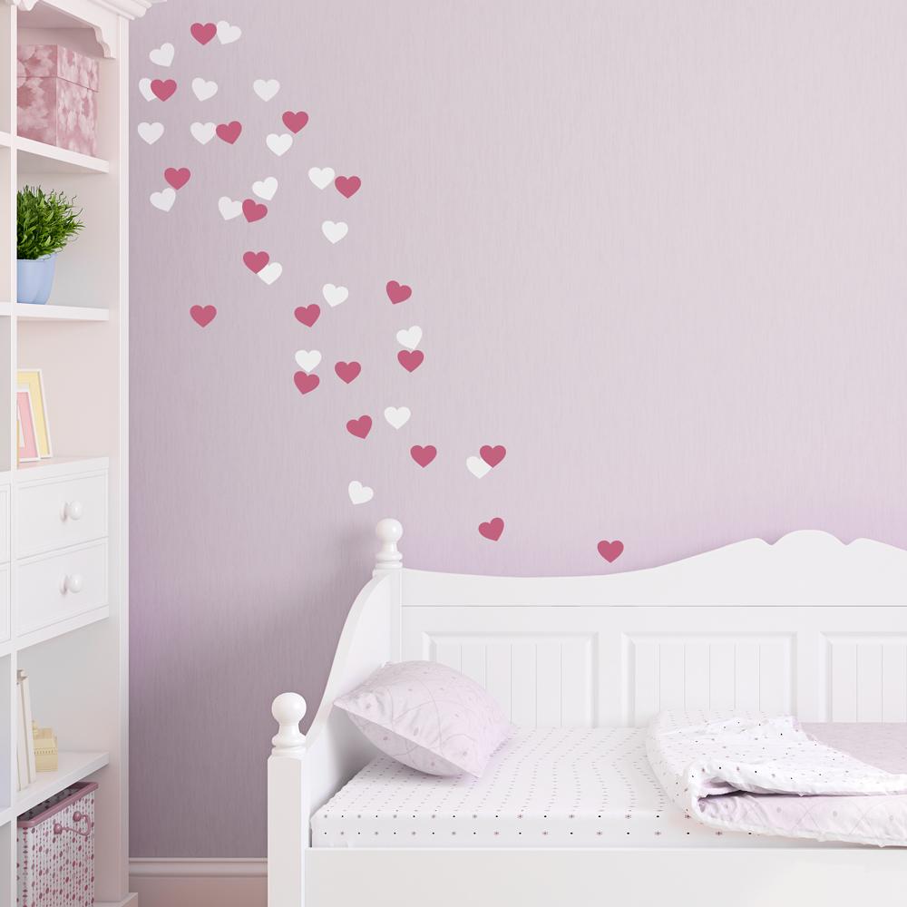 Merveilleux Heart Fetti Wall Decal
