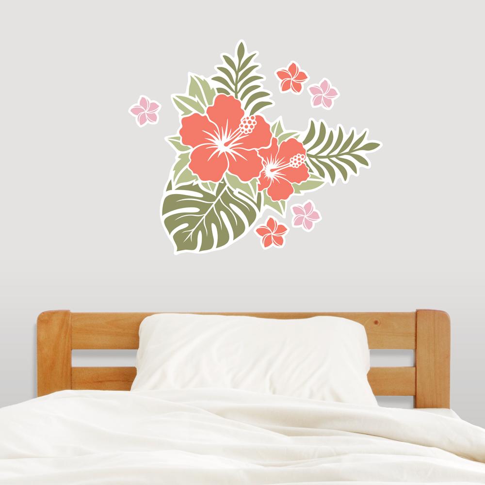 Hawaiian Flowers Wall Decal Sticker
