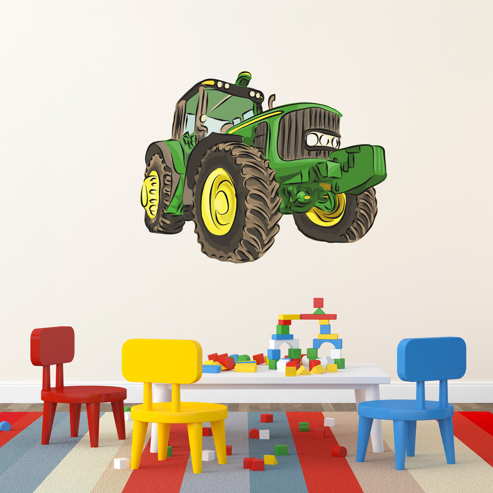 Tractor Wall Print Decal  sc 1 st  Wallums & Tractor Wall Decal | Tractor Wall Sticker | Wallums