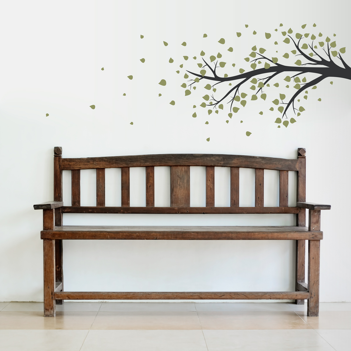 Windy Tree Branch Wall Decal Sticker