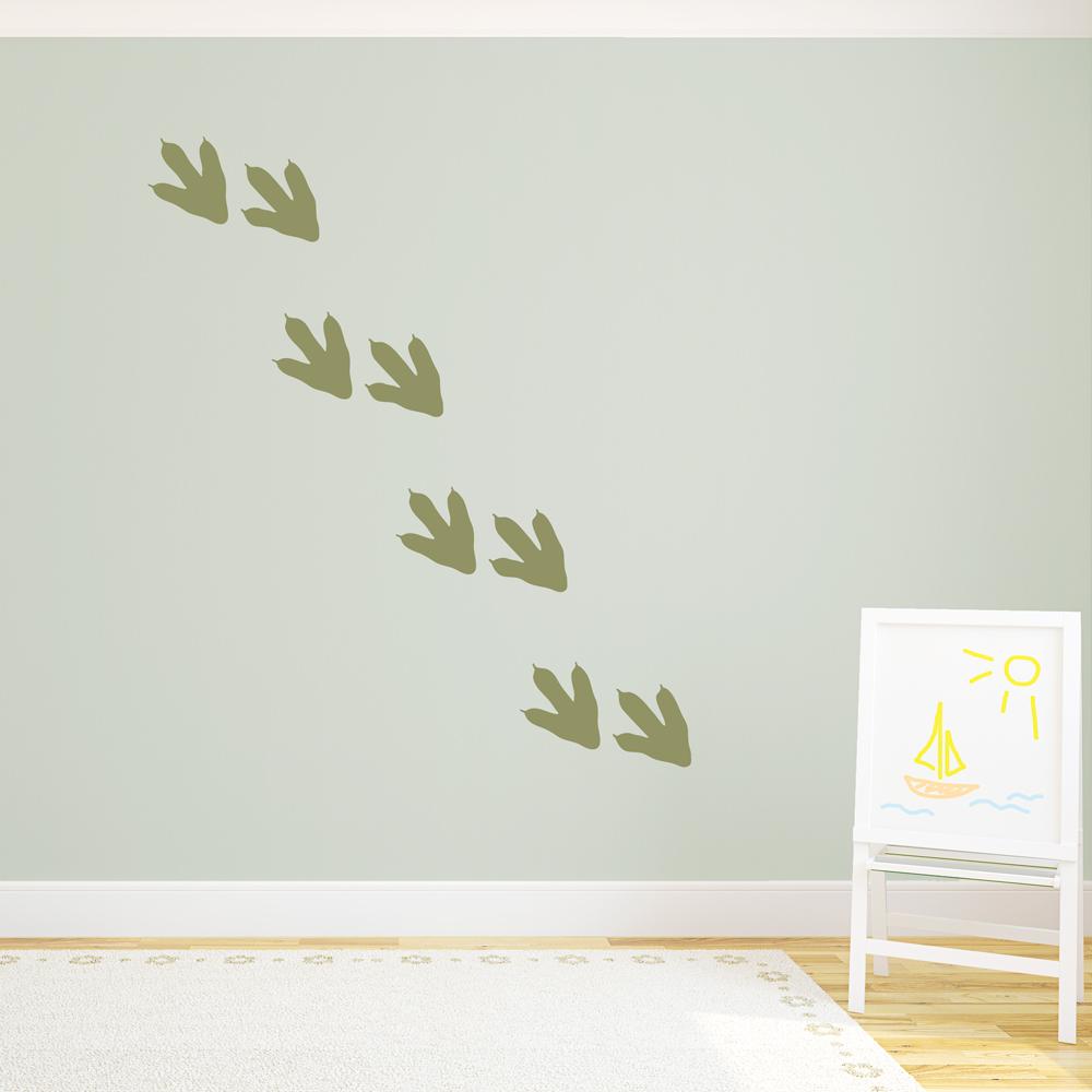 Dinosaur Footprints Wall Decal | Dino Footprint Room D?cor