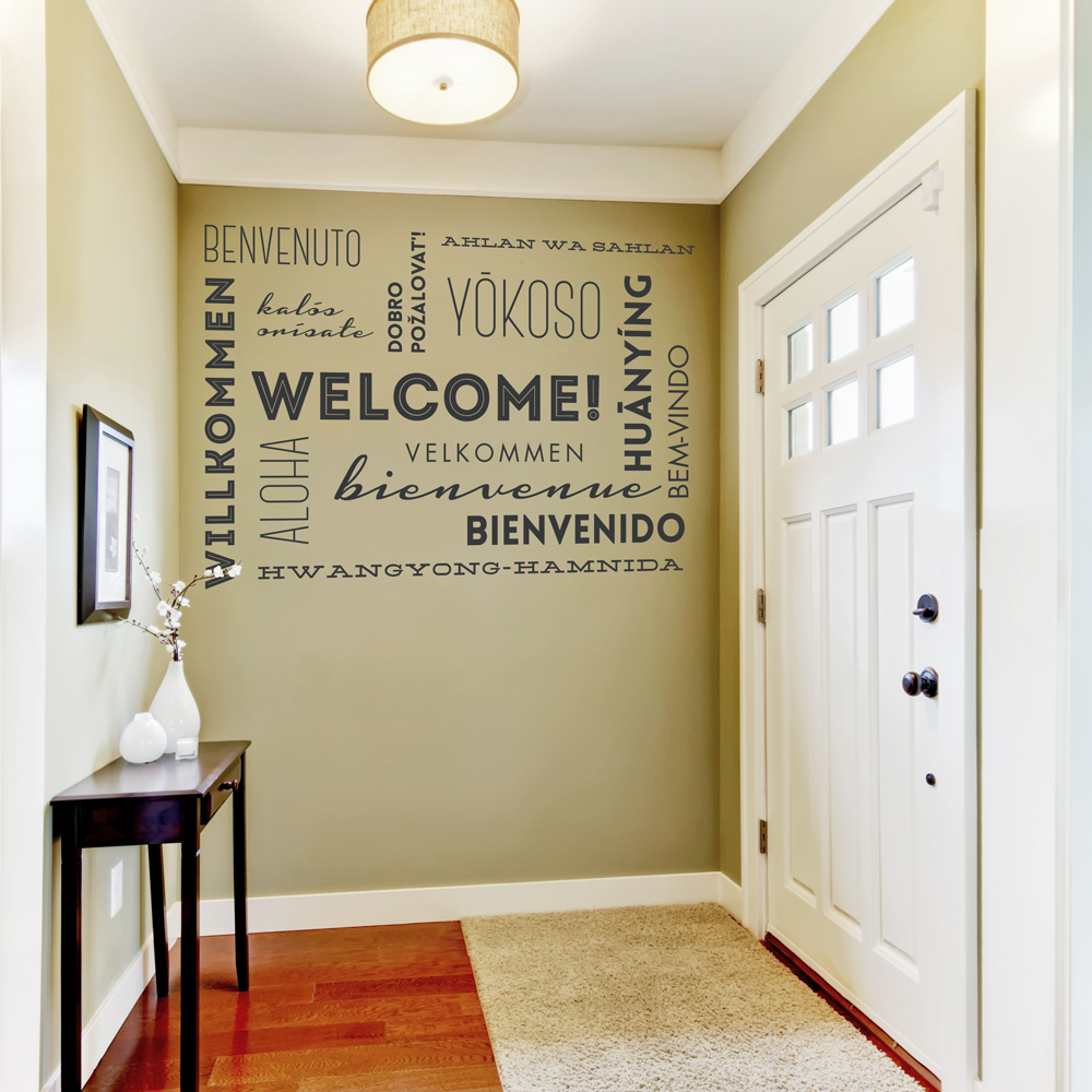 Welcome In Many Languages Wall Decal Wallums